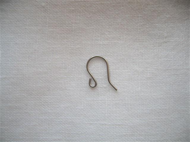 画像1: チタンU字ピアス金具